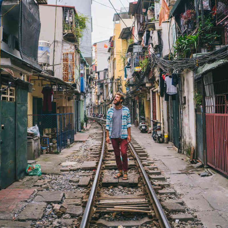 Train Street in a lesser-known corner of Hanoi
